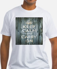 modern keep calm and carry on fashion T-Shirt