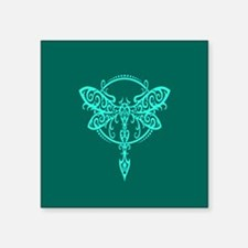 Teal Blue Swirling Tribal Dragonfly Sticker