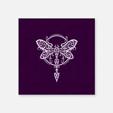 Purple Swirling Tribal Dragonfly Sticker