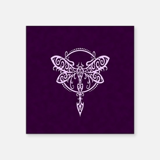 Purple Swirling Tribal Dragonfly Sticker