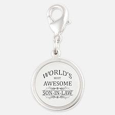 World's Most Amazing Son-In-La Silver Round Charm