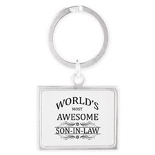 World's Most Amazing Son-In-Law Landscape Keychain