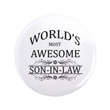 """World's Most Amazing Son-In-Law 3.5"""" Button"""