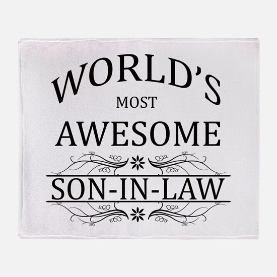 World's Most Amazing Son-In-Law Throw Blanket
