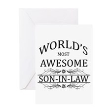 World's Most Amazing Son-In-Law Greeting Card