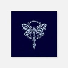 Blue Swirling Tribal Dragonfly Sticker