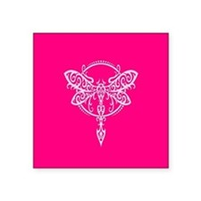 Pink Swirling Tribal Dragonfly Sticker