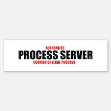 Process Server (bumper) Bumper Bumper Bumper Sticker