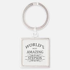 World's Most Amazing Stepson Square Keychain