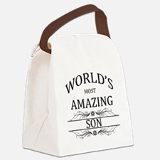World's Most Amazing Son Canvas Lunch Bag
