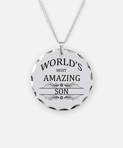 World's Most Amazing Son Necklace Circle Charm
