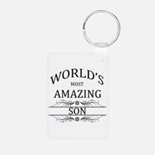 World's Most Amazing Son Aluminum Photo Keychain