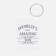 World's Most Amazing Son Keychains