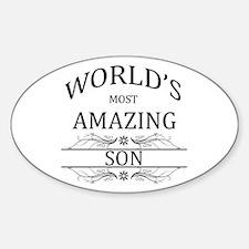 World's Most Amazing Son Sticker (Oval)
