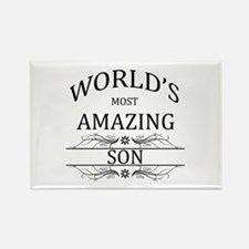 World's Most Amazing Son Rectangle Magnet