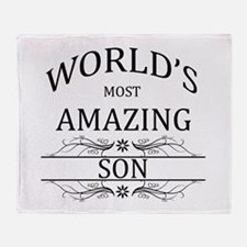 World's Most Amazing Son Throw Blanket