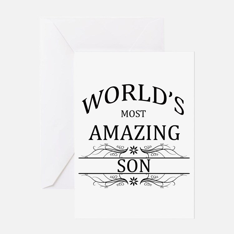 World's Most Amazing Son Greeting Card