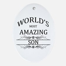 World's Most Amazing Son Ornament (Oval)