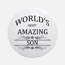World's Most Amazing Son Ornament (Round)
