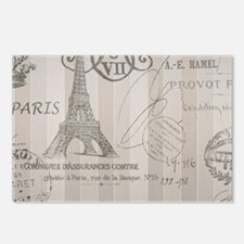 stripes elegant paris Eiffel tower floral art Post