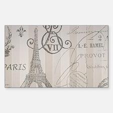 stripes elegant paris Eiffel tower floral art Stic
