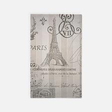 stripes elegant paris Eiffel tower floral art 3'x5