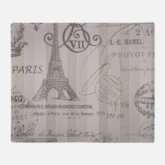 stripes elegant paris Eiffel tower floral art Thro