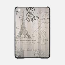 stripes elegant paris Eiffel tower floral art iPad