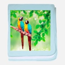 Macaws baby blanket