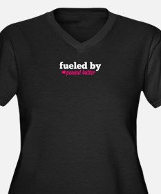 Fueled by PB Women's Plus Size V-Neck Dark T-Shirt