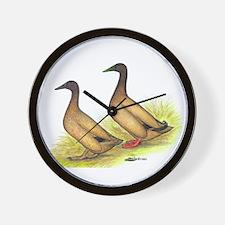 Khaki Campbell Ducks Wall Clock