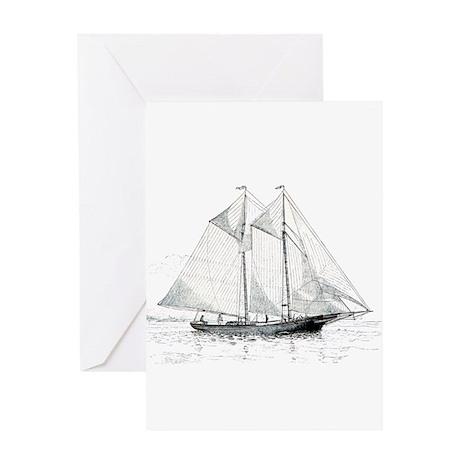 American Fishing Schooner Greeting Cards