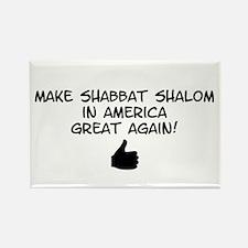 Make Shabbat Shalom in America Great Again Magnets