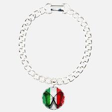 Italian Flag Butterfly Bracelet