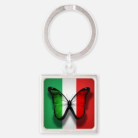 Italian Flag Butterfly Keychains