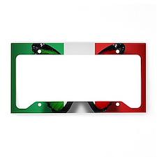 Italian Flag Butterfly License Plate Holder