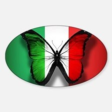 Italian Flag Butterfly Decal