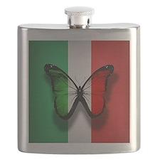 Italian Flag Butterfly Flask