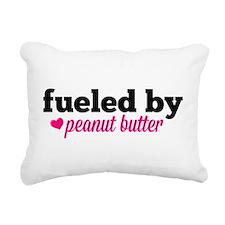 Fueled by Peanut Butter Rectangular Canvas Pillow