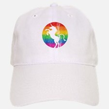 Retro Unicorn Rainbow Baseball Baseball Cap