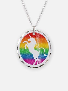 Retro Unicorn Rainbow Necklace