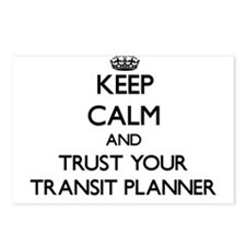 Keep Calm and Trust Your Transit Planner Postcards