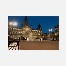 george square at night Rectangle Magnet