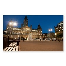 george square at night Decal