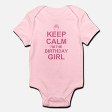 Keep Calm Birthday Girl Infant Bodysuit