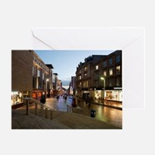 Buchanan Street in central Glasgow Greeting Card