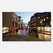 Buchanan Street in central Gla Sticker (Rectangle)