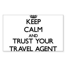 Keep Calm and Trust Your Travel Agent Decal