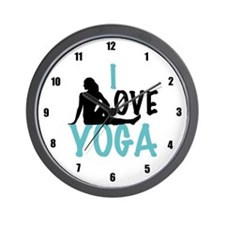 I Love Yoga Wall Clock