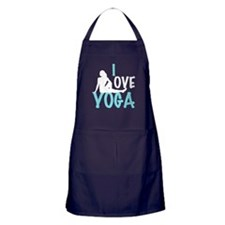 I Love Yoga Apron (dark)